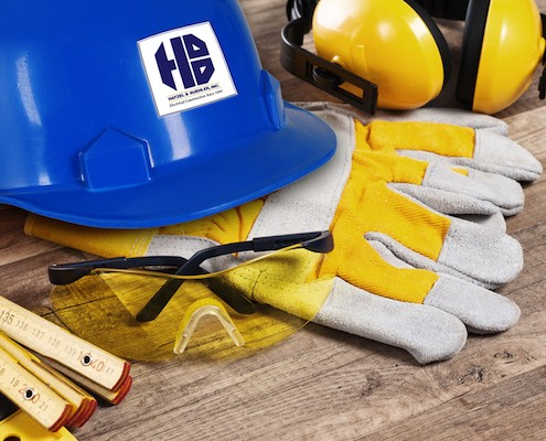 Hard Hat & Gloves Safety Visual