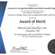 H&B Award of Merit Certificate 2018