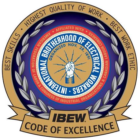 IBEW Code of Excellence Logo